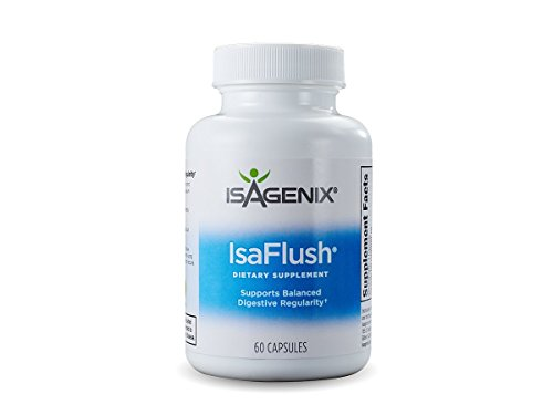 Isagenix IsaFlush - 60 capsules (60 servings) - Cleansing Herbs and Minerals to aid in Digestive Regularity.