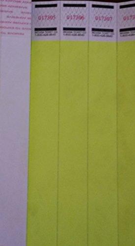 Neon Yellow Dup # 3/4 Tyvek Wristbands - 500 Ct