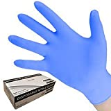 Blue Nitrile disposable gloves box of 100 size L or XL AQL rating 1.5 (Extra Large)