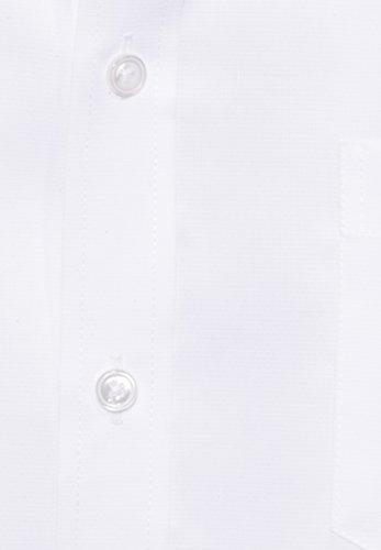 Pure Fashion Fit Chemise à manches longues Structure Blanc