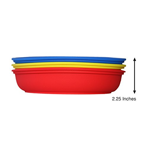 Baby / Toddler Divided Plate Microwave Safe 100% Silicone FDA Certified BPA Free 3 Pack by Child's Plate (Image #3)