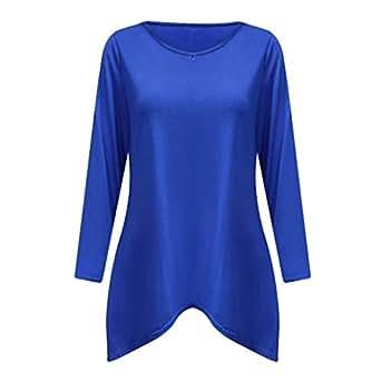 Mujer Vestido De Hombro Frío Blusas Tops del Batwing Camisetas Mangas Larga Casual Camiseta: Amazon.es: Ropa y accesorios