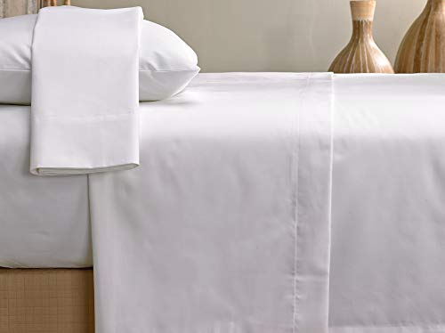 Marriott Signature Sheet Set Soft Breathable 300 Thread Count Cotton Blend Linens Set White Includes Flat Sheet Fitted Sheet And 2 Pillowcases King