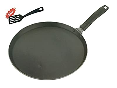 Aluminium Non-Stick Deep Kadhai With Lid,Free Scrubber & Pastic Paddle, Strong Stainless Steel Handle