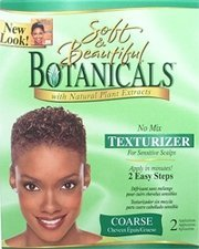 SOFT & BEAUTIFUL Botanicals with Natural Plant Extracts No-Lye No Mix Texturizer for Sensitive Scalps COARSE (Quantity: 2 Applications)