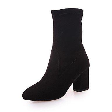 Negro 2 Chunky Us8 EU36 amp;Amp; Suede De De Cn39 Mujer Formales Casual 3 Noche RTRY Tacones 2A Ue39 Talón Zapatos Negro Parte Caminando Traje UK3 5 La CN35 Uk6 4En Caída US5 5 wqHzgxB