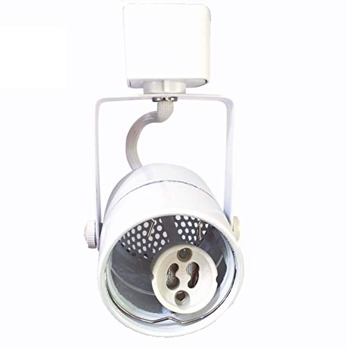 KING SHA White GU10 Line Voltage Track Lighting Head (Bulb NOT Included) Compatible H Type 3-Wire Single Circuit Track Systems,ETL-Listed ()