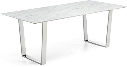 Meridian Furniture 735-T Carlton Dining Table Chrome