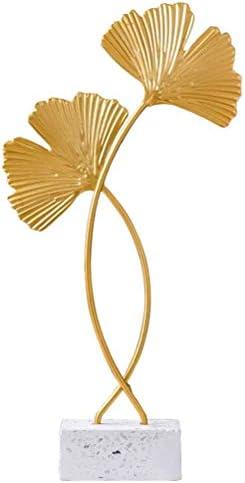 LINONI Nordic Style Houd Ginkgo Bladeren Fanvormige Tafel Decoratie Props Home Desktop Decor Metalen Sculptuur Ornament voor Woonkamer Slaapkamer