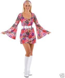 Wicked Costumes - Disfraz de los años 60 para mujer (talla S ...