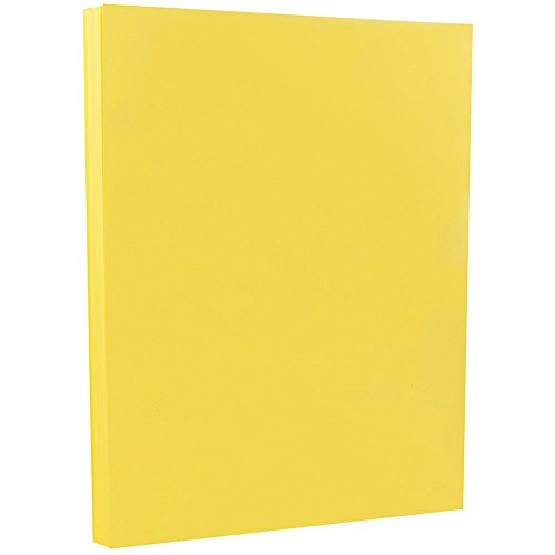 - JAM PAPER Vellum Bristol 67lb Cardstock - 8.5 x 11 Coverstock - Yellow - 50 Sheets/Pack