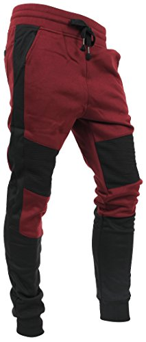 Hat and Beyond Casual Fleece Jogger Pants Active Elastic Urban Biker Slim Fit (Large, 5018)