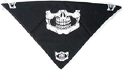 Skull Jaw Bone Bandana Headband Skullcap Neckerchief Face Mask Party Bag Filler