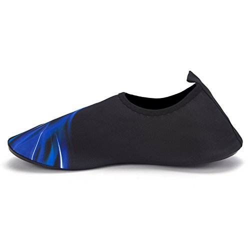 FLORATA A Pair Of Quick Drying Slip Yoga Surfing Climbing Barefoot Water Shoes for Unisex outdoor shoes Black Blue-04 5KFKXYwkU