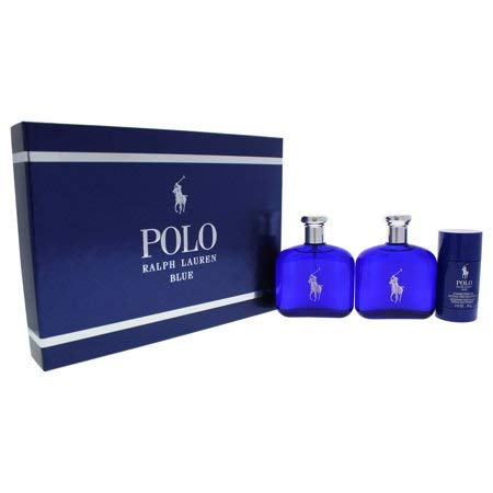 Ralph Lauren Polo Blue for Men 3 Piece Gift Set ()