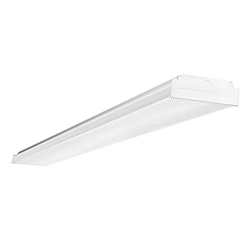 AntLux 4FT LED Wraparound, LED Garage Lights 4 Foot, 40W 4400lm, 4000K Neutral White, Low Profile Linear Flush Mount Office Ceiling Shop LED Wrap Light, Fluorescent Lighting Fixture Replacement