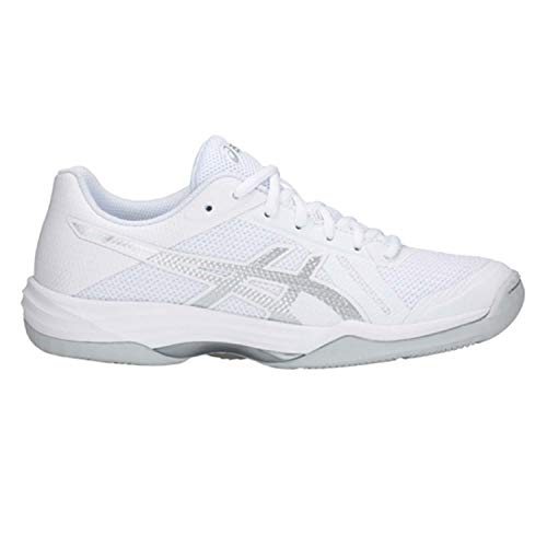 ASICS Women's Gel-Tactic 2 Real White/Silver 7 B US