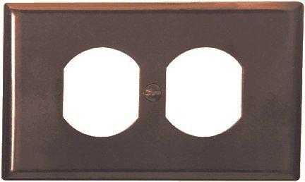 Leviton M01-86003-IMP 10 Pack 1 Gang Wallplates, Duplex Receptacle, Ivory