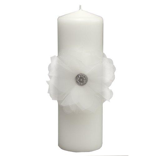 Jamie Lynn Wedding Accessories Pillar Candle, Chloe, White