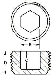 HSPN0750RD4 Hex Socket Plug for 3/4-14 NPT Threads, PP Red - MOCAP (qty 400) by MOCAP (Image #1)
