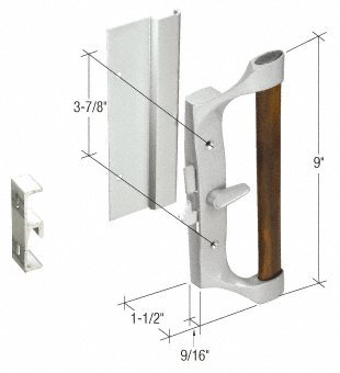 Hook-Style Surface Mount Sliding Glass Patio Door Handle for Sears Doors, 3-7/8