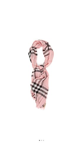 - Burberry-1 Lightweight Check Wool and Silk Scarf