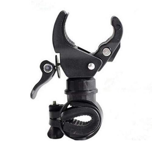 360° Swivel Bicycle Bike Mount Holder Clip Clamp for Led Flashlight Torch Black