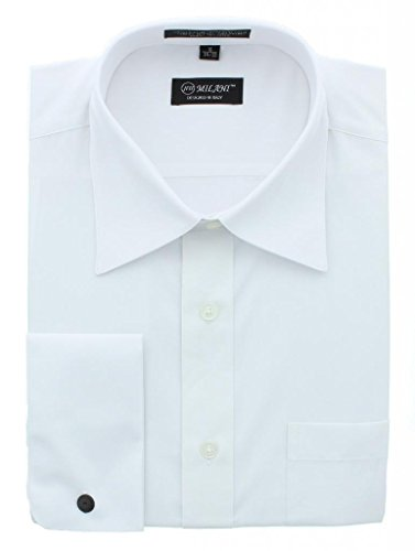 Milani Men's Dress Shirt With French Cuffs 18.5