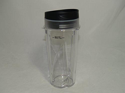 Ninja Pulse Blender 16 Ounce Single Serve Cup with To Go Lid - BL200 BL201 BL204 Pulse Blenders Only (Ninja Single Pulse Blender)
