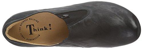 Think! MENSCHA Slipper - Zapatillas de casa de cuero mujer negro - Schwarz (SCHWARZ 00)