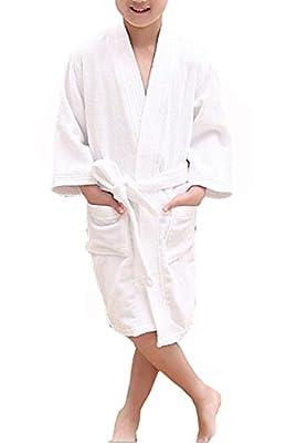 KM Child V-neck Towel Cotton Bathrobe
