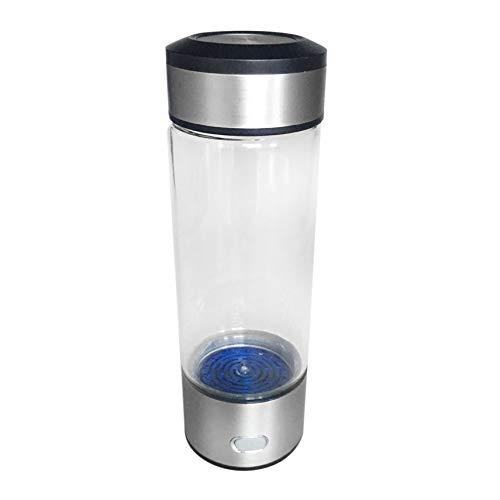 Mogustore Bouteille d'eau Anti-vieillissement Bouteille ionique Libre verre ionique Bouteille d'eau Potable Riche en hydrogène Bouteille Anti-vieillissement pour Les Bureaux à Domicile Yundref