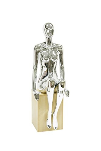 Newtech Display MAF-S2-310/CHR (310) Alien Female Mannequin, Base not Included, Shiny Chrome by Newtech Display