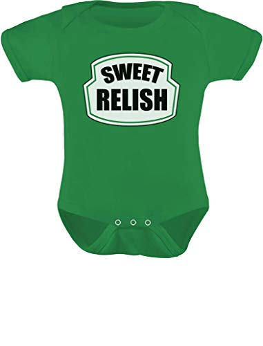 Tstars - Sweet Relish Green Pickled Cute Easy Halloween Costume Baby Bodysuit 12M (6-12M) Green