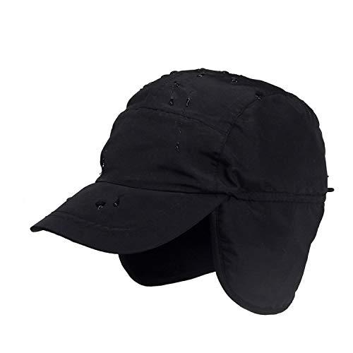 - GordonKo Winter Baseball Cap Keep Warm Earflap Polar Fleece Adult Cap Outdoor Hats Black
