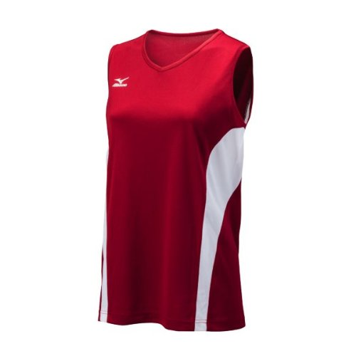 Red Mizuno Pullover (Mizuno Women's Performance Sleeveless G3 Jersey, Red/White, Medium)