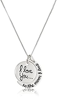 "Sterling Silver ""I Love You To The Moon and Back"" Pendant Necklace, 18"" (B005G13PRI) 