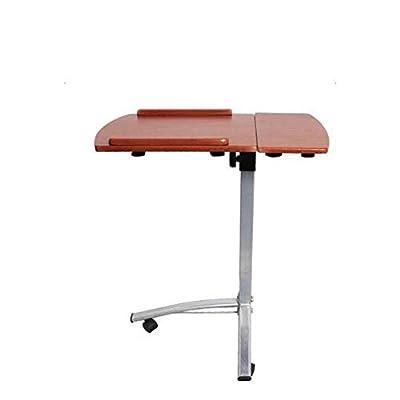 Adjustable Rolling Laptop Desk Cart Over Bed Hospital Table Stand
