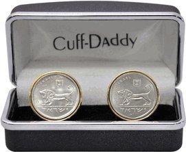 Cuff-Daddy Israeli Israel Coin Cufflinks Half Shekel with Presentation Box by Cuff-Daddy (Image #3)