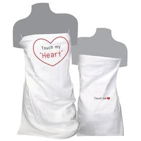naughtygifty touch my heart funny bath towel christmas gift ideas for couples. Black Bedroom Furniture Sets. Home Design Ideas