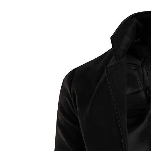 Tinta Coreana Mare Unita Collo Giacca Blu Lunga Casual Sportiva Npradla Manica Alla Uomo Awxtn4qC4