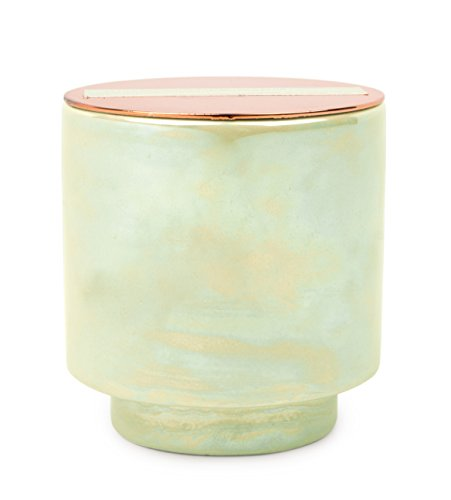 Paddywax Glow Collection Scented Soy Wax Candle, 5-Ounce, White Woods & Mint