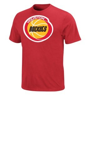 NBA Houston Rockets Men's Hakeem Olajuwon T-Shirt, Red, X-Large