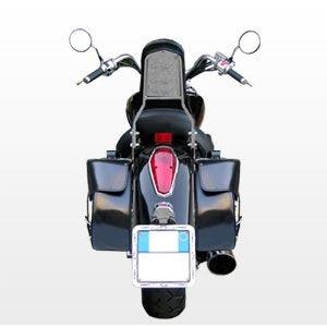 SB-119 Borse laterali 38 litri per Harley moto custom