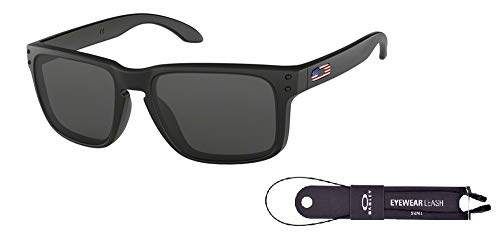 4267be89839d2 Oakley Holbrook OO9102 9102E6 57M Matte Black USA icon Grey for sale  Delivered anywhere in
