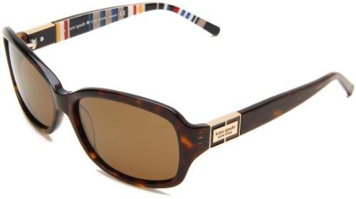 Kate Spade Women's Annikps Polarized Rectangular Sunglasses,Tortoise Stripe Frame/Brown Lens,One - Sunglasses Kate Spade Tortoise