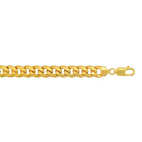 10Kt Yellow Gold Miami Cuban Curb Link Chain/Bracelet 5.3 Mm ()