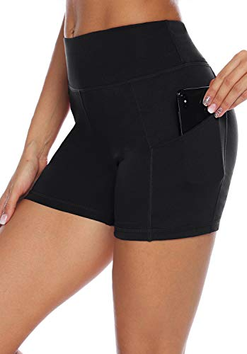 AUU High Waist Yoga Shorts Workout Running Athletic Non See-Through Yoga Pants