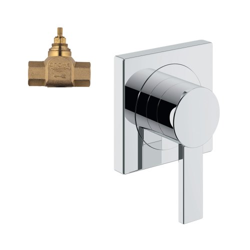 Grohe K19385-29274R-000 Allure Volume Control Trim with Rough-In Chrome Allure Single Lever