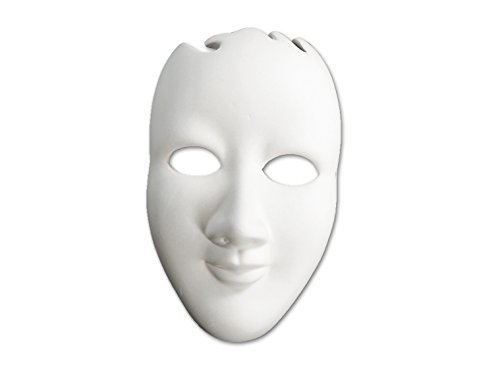 Mask - Paint Your Own Ceramic - Unfinished Low-Fire Ceramic Bisque - - Bisque Masks